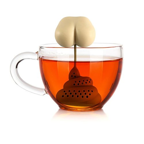 Silicone Tea Infuser Creative Poop Shaped Funny Gadgets Herbal Bag Reusable Coffee Filter Diffuser Strainer Accessories