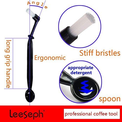 2 in 1 Coffee Cleaning Brush and Spoon, Espresso Machine Cleaning Tools