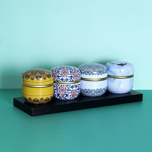 Dampproof Container Round Tinplate Tea Caddy Nuts Candy Snacks Sealed Jar Universal Packaging Box