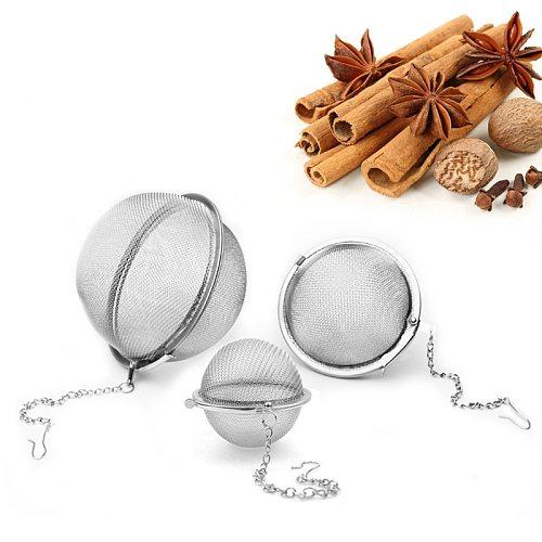1pc Stainless Steel Tea Infuser Sphere Locking Spice Tea Ball Strainer Mesh Infuser Tea Filter Strainers Kitchen Tools theezeef