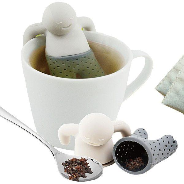Silicone Tea Strainer Interesting Life Partner Cute Mister Teapot MR Little Man People Tea Infuser Filter Brewing Making Teapot