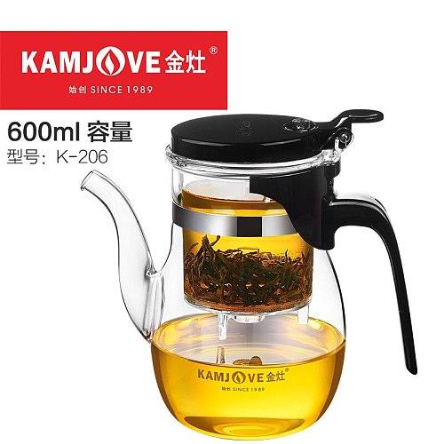 Various Kamjove Glass Kungfu Teapot PiaoYi Bei Convenient Teacup Kungfu Tea Set Press AUTO-OPEN Art Tea Cup