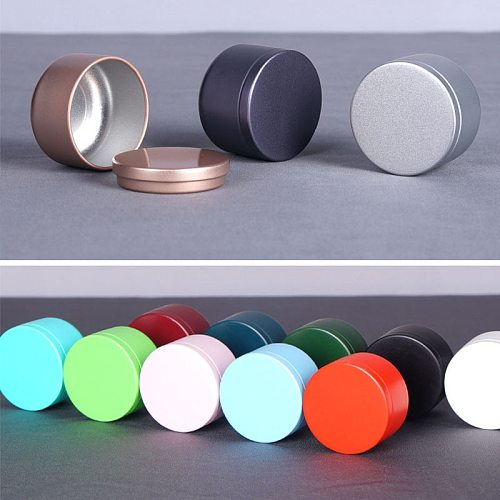 1pcs/bag  30ml Mini Tin Storage Metal Box small iron pot sealed pot for Coffee Tea Candy Storage accessiories  Container Cans