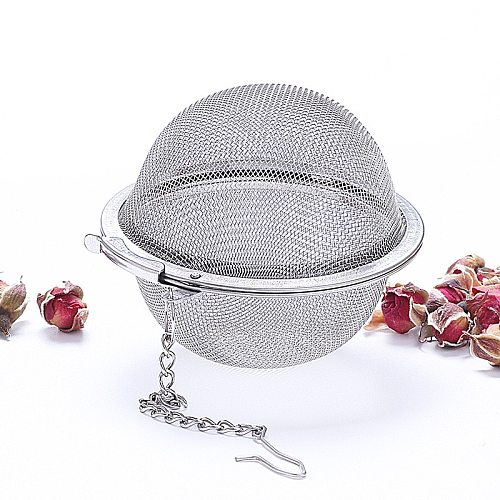 5 Size Stainless Steel Tea Infuser Sphere Locking Spice Tea Ball Strainer Mesh Infuser Tea Filter Strainers Kitchen Accessories