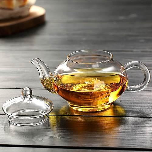 250ml Heat-resisting High Temperature Glass Mini- Scented Tea Infusion Of Tea Kettle Transparent Kung Fu Tea Have Trumpet Teapot