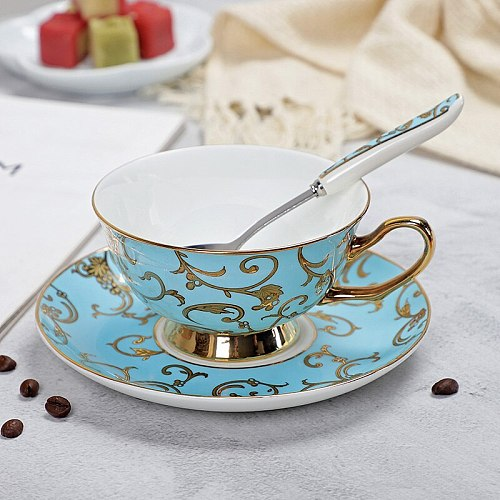 YeFine Bone China Coffee Cup and Saucer Set Advanced Royal Classical Afternoon Tea Cups Ceramic