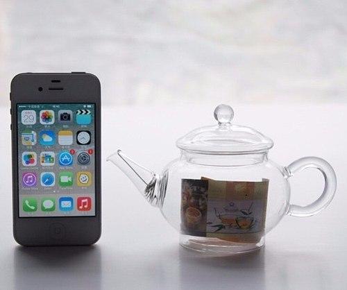 Glass High Resistance 250ml glass tea pot tea kettle  teapot