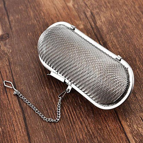 Kitchen Gadgets Reusable Spice Loose Tea Leaf Herbal Tool Tea Strainer Hanging Tea Infuser Stainless Steel Tea Accessories