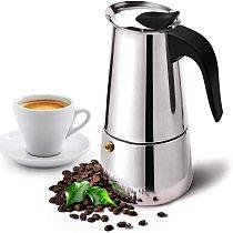 Stainless Steel Moka Coffee Pot Espresso Percolator Portable Coffee Maker Pot Percolator Drink Tool Cafetiere Latte Stovetop