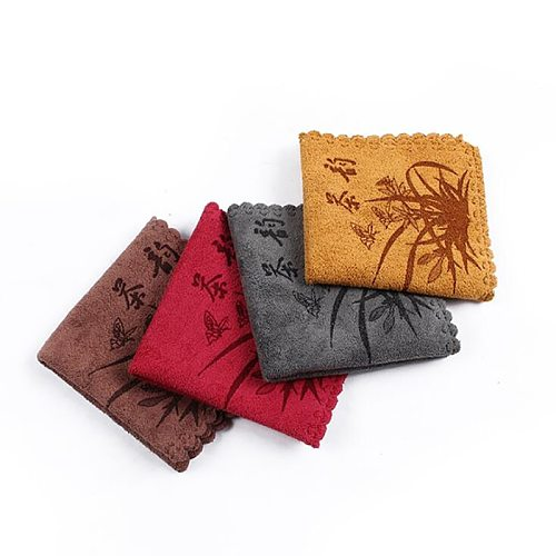 Chinese Tea Towel Eco-Friendly Printing Tea Tools  Water Absorption Fiber Tea Cloth Strong Water Absorption Special Towel