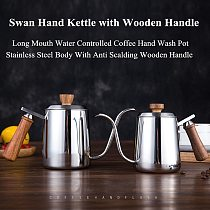 350ml/600ml Coffee Tea Pot 304 Stainless Steel Long Narrow Gooseneck Spout Kettle Hand Drip Kettle Pour Over Coffee pot With lid