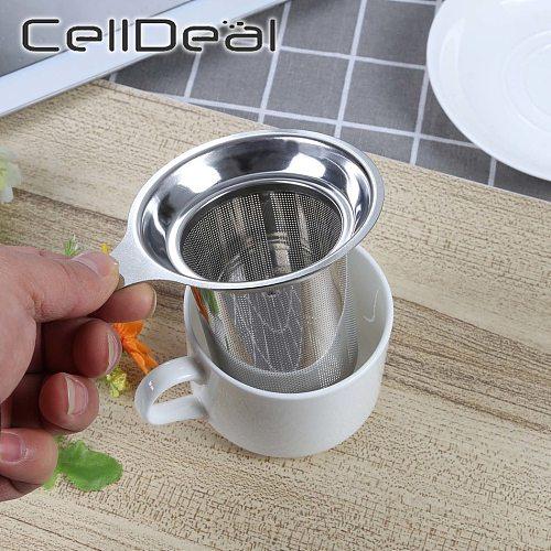 304 Stainless Steel Reusable Tea Infuser Tea Strainer Teapot Loose Tea Leaf Spice Tea Filter Kitchen Accessories Handle Clip
