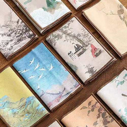 Suede Tea Towel Household Zen Tea Table Tea Cloth High-Grade Absorbent Yixing Clay Teapots Tea Mat Kung Fu Tea Tea Napkin