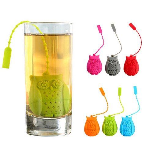 Tea Bag Food Grade Leaf Herbal Spice Filter 1 Pc Unicorn owl Shape Tea Infuser Strainers Creative Filter Loose Silicone Diffuser