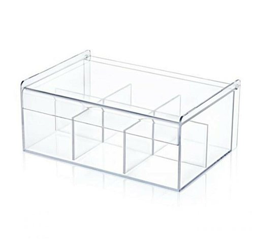 Tea Box 6-Compartment Lid Bag Herbal Tea Storage Box