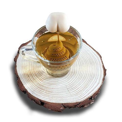 Tea Bag Food Grade Leaf Herbal Spice Filter Innovative Butt Shape Tea Infuser Strainers Creative Filter Loose Silicone