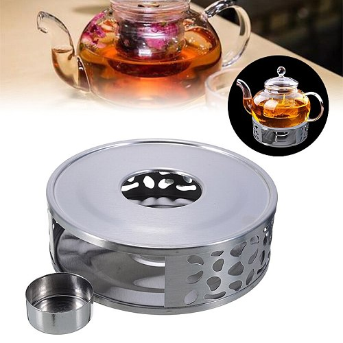 Portable Warmer Tea Holder Durable Stainless Steel Candle Warmer Tea Light Holder Trivets Coffee Warmer Heating Base Teapot Hold