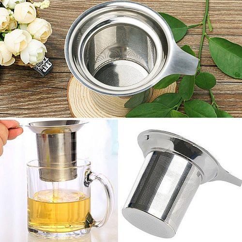 Tea Mesh Infuser Reusable Tea Strainer Teapot Stainless Steel Loose Tea Leaf Spice Filter Drinkware Kitchen Accessories
