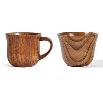 Natural Wood Cup Primitive Handmade Spruce Wooden Cup Breakfast Beer Milk Drinkware Green Tea Cup Water Coffee Mug