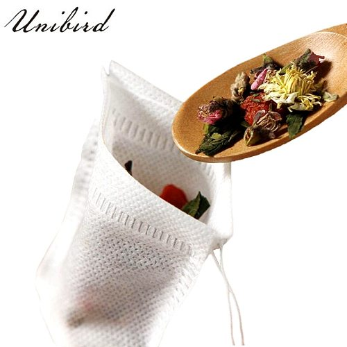 Unibird Disposable Tea bags 100Pcs Non-woven Fabrics Tea Infuser With String Heal Seal Filter Paper for Herb Loose Strainer