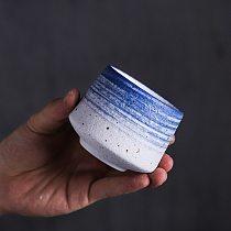 LUWU chinese ceramic tea cup big capacity blue porcelain tea cups chinese kung fu cup 170ml