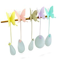 Hot Sale Butterfly Tea Bags Strainers Silicone Filter Tea Infuser Silica Cute Teabags for Tea & Coffee Drinkware