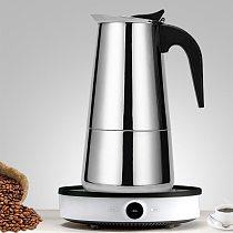 Stainless Steel Coffee Maker Moka Pot Geyser Coffee Makers Coffee Pot Espresso Maker Brewer Latte Coffee Tools Percolator Stove