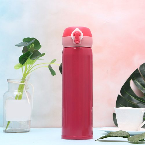 40# 500ml Travel Mug Office Coffee Tea Keep Warm Water Bottle Cups Thermos Warm Keeping Water Cup Sports Bottle Thermoses