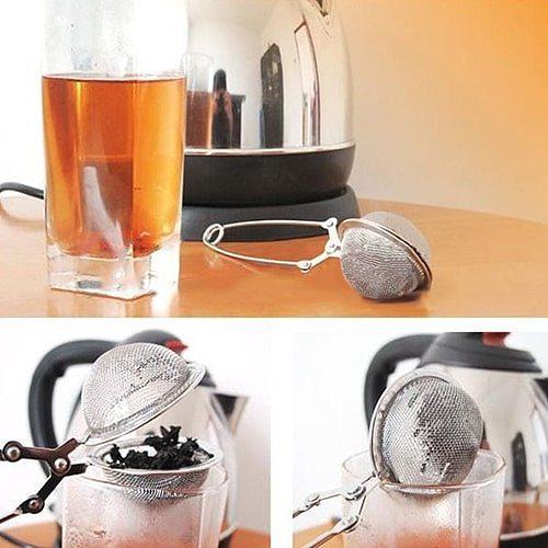 Stainless Steel Tea Infuser Sphere Mesh Tea Strainer Coffee Herb Spice Filter Diffuser Handle Tea Ball