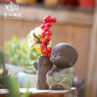 Cute Little Monk Tea Pet Hydroponic Vase Creative Tea Set Pet Decoration Boutique Tea Ceremony Accessories Free Shipping