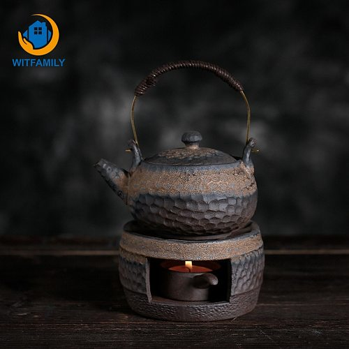 Warm Tea Stove Japanese Retro Tea Warmer Teapot Ceramic Kung Fu Tea Warming Coffee Milk Candle Heating Teaware Insulation Base