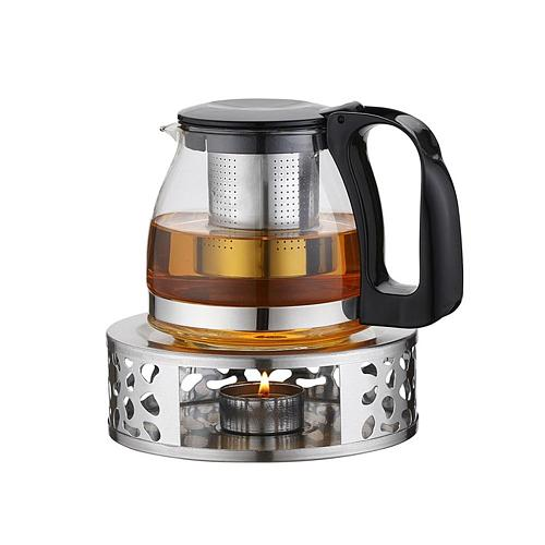 Portable Warmer Tea Holder Durable Stainless Steel Candle Warmer Tea Light Holder Trivets Coffee Warmer Teapot Heating Base