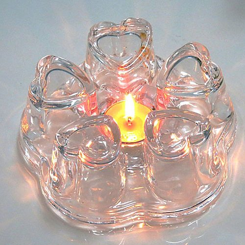 Heart Shape Heat Resistance Glass Flower Teapots Heater Coffee Maker Heating Base Candle Holder Glass Tea pots Warmer Base Tools