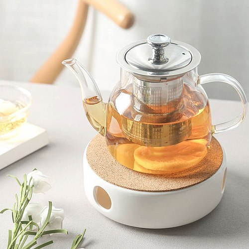 Brief Warm Tea Stove Candle Heating Coffee Milk Warmer Candlestick Teaware Accessories / Teapot Holder Base Shelf Ceramic Heater