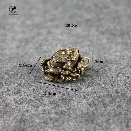 Solid Copper Lucky Toad Tea Ceremony Small Ornaments Tea Pet Antique Bronze Animal Bufo Figures Miniatures Desk Decoration Craft