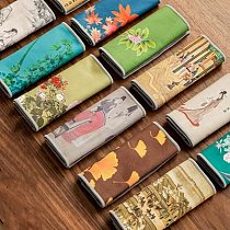 Painted Thick Tea Towel Super Absorbent Tea Towel High-end Tea Set Accessories Raising Pot Towel Tea Table Professional Rag