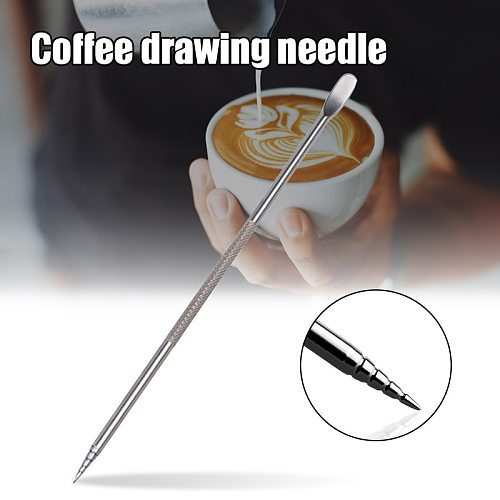 Stainless Steel Coffee Art Pen Coffee Fancy Stitch Barista Tool for Cappuccino Latte Espresso Decorating DropshipCLH@8