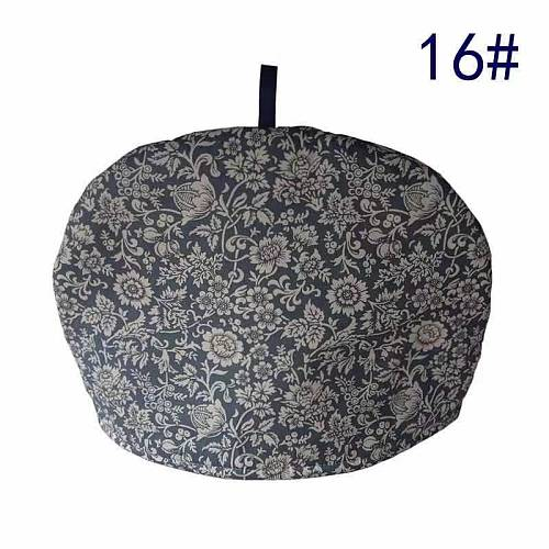 Dark Blue Folk-custom Floral Printed  Simple  Cotton Home Teapot  Keep Warm / Anti-Scald Insulation/  Dust-Proof Cover
