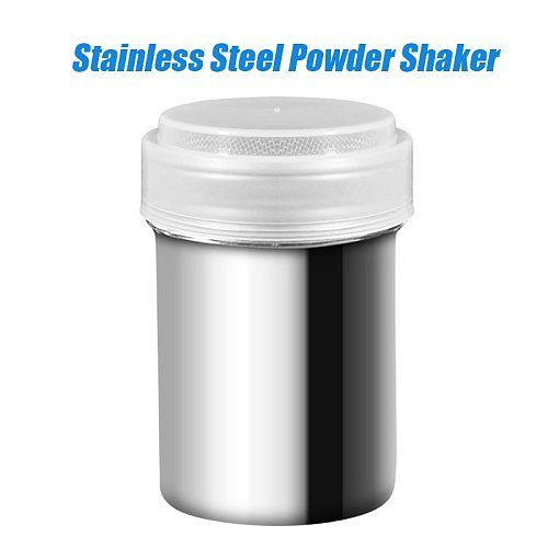 Stainless Steel Chocolate Shaker Cocoa Flour Coffee Sifter 8/16Pcs Cappuccino Coffee Template Strew Pad Duster Spray Tools D30