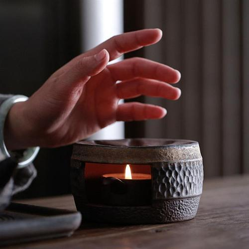 1Pc Teapot Warmer Retro Ceramic Tea Warmer Tea Heater Ceramic Candle Stand Holder Tea Stove Warmer