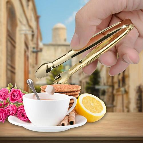 Hot Kitchen Bar Supplies Tool 1pcs Coffee Sugar Clip Stainless Steel Tweezers Mini Clamp Tong Pliers Coffee Small Clip