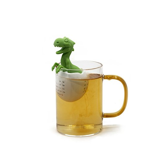 Tea Strainer Silicone Creative Dinosaur Shape Tea Infuser Leaf Herbal Spice Filter Strainers Reusable Filter Tea Set Accessories