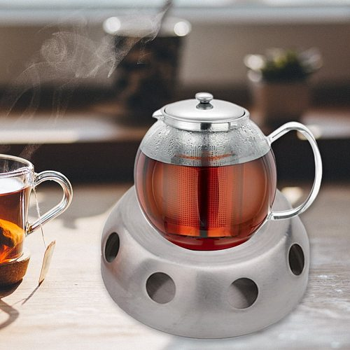 Practical Teaware Silver Coffee Heating Base Office Home Teapot Warmer Round Candle Accessories Stainless Steel Stove Detachable