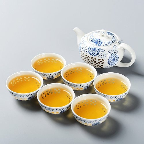 TANGPIN blue-and-white exquisite ceramic teapot kettles tea cup porcelain chinese kung fu tea set drinkware