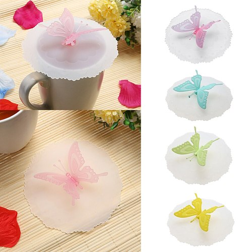 Driking Cup Lid Silicone Anti-dust Bowl Cover Cup Cute Butterfly Lace Seals Glass Mugs Cap Cup Lids Kitchen tools