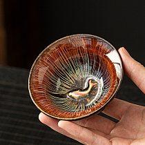 LUWU ceramic tea cup goldfish cup chinese kung fu cup 110ml