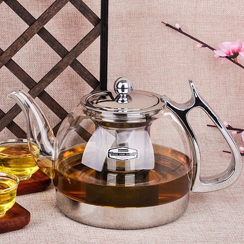 Heat Resistant Glass Teapot Electromagnetic Furnace Multifunctional Teapot Induction Cooker Kettle