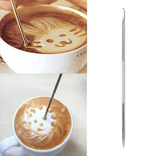 1PC 304 Stainless Steel Latte Art Pen Barista Cappuccino Latte Espresso Coffee Decorating Pen DIY Kitchen Coffee Tool