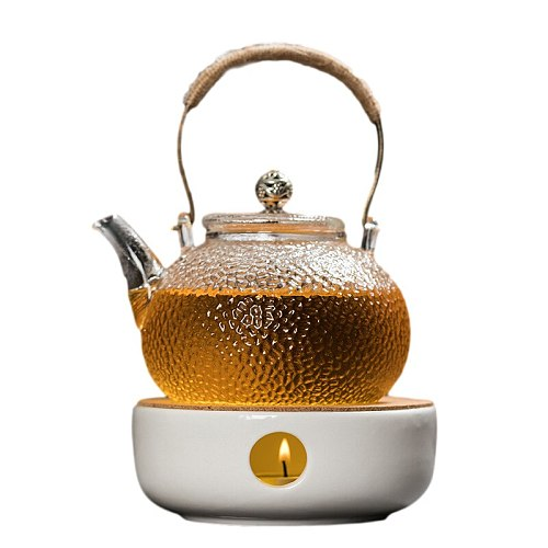 Mini Portable Teapot Holder Ceramic Tea Pot Warmer Insulation Base Coffee Tea Heater Candle Holder Tea Accessories