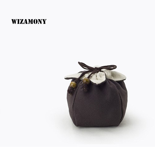 WIZAMONY 1PCS Promotion Varied Colors Tea Bag For Tea Bowl Cup Chinese Tea Ceremony Cloth Cotton Portable Bag for Travel